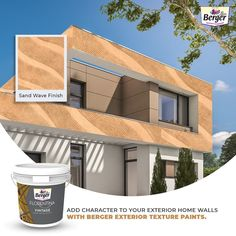 Find the perfect look for your home from the diverse palette of options available. #BergerExteriorTextures help your home achieve a luxurious look and provides extraordinary performance against adverse weather conditions. #BergerPaintsIndia #PaintYourImagination