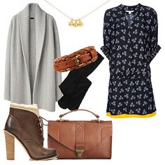 Cinch your sweater...   Bundle up stylishly by adding a sweater coat to a girlie dress; just cinch at the waist and add a pair of seasonal boots to complete your cozy-chic office apparel.