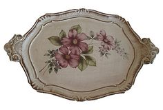 It's so pretty.  Floral Florentine Tray on OneKingsLane.com