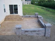 roman slate seamless stamped concrete job by ryan dieh | concrete ... - Stamped Patio Designs