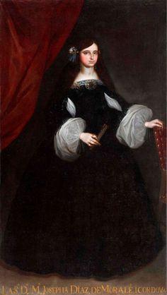 Portrait of Maria Josefa Diaz de Morales y Cordoba by Juan de Alfaro,1660s