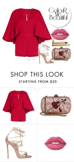 """Untitled #713"" by crisa-gloria-eduardo ❤ liked on Polyvore featuring BCBGMAXAZRIA, Gucci, Dsquared2, Lime Crime and Yves Saint Laurent"