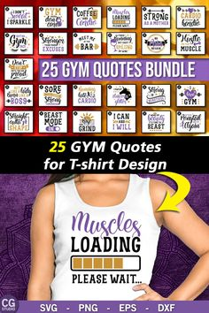 Gym Quotes SVG Bundle, Barbell svg, workout svg, sport svg, motivational quotes svg, muscles svg, fitness svg, exercise svg,cricut svg files.  Commercial License included! #workout #fitness #tshirttemplate #tshirtdesign #gymquotes #ads Gym Motivation Quotes, Gym Quote, T Shirt Design Template, Silhouette Designer Edition, Workout Fitness, Barbell, Svg Files For Cricut, Muscles, Funny Tshirts
