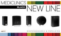 NOVIDADE: Mediclinics BLACK NEW LINE • info@laserbuild.pt #mediclinics Nintendo Wii, Building, Black, Paper Towels, Soap Dispenser, Bathing, Black People, Buildings, Construction