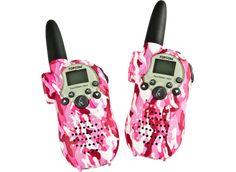 PMR camouflage walkie-talkier - lyserød
