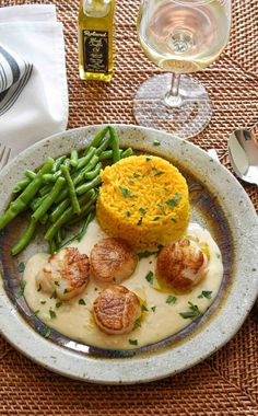 Seared scallops with lobster brandy sauce is something you have got to try. The sauce has such a succulent flavor paired with the scallops. A drop or two of truffle oil in each scallop takes this dish over the top. #scallops #searedscallops #lobstersauce #seafood Food Network Channel, Food Network Recipes, Shellfish Recipes, Seafood Recipes, Lobster Sauce, Brandy Sauce, Seared Scallops, Truffle Oil, Scallop Recipes