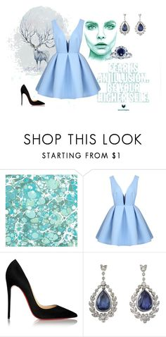 """""""Untitled #66"""" by habibakenawy on Polyvore featuring Christian Louboutin, Kobelli, women's clothing, women's fashion, women, female, woman, misses and juniors"""