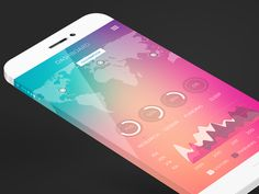 Stats iOS 7 style by David Cristian #UI