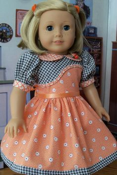 Kit's Spring Dress / Clothes for American Girl Kit by Farmcookies   #Crafts #craftsforgirls #craftideas