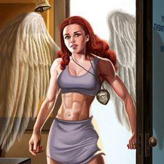 Character Design d'Angel de Public Justice par Bill Heimanson
