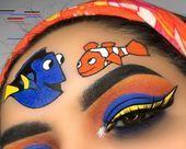 "Makeup More History of eye makeup ""Eye care"", quite simply, ""eye make-up"" Disney Eye Makeup, Disney Inspired Makeup, Cartoon Makeup, Bridal Eye Makeup, Dramatic Eye Makeup, Colorful Eye Makeup, Cute Makeup Looks, Makeup Eye Looks, Eye Makeup Art"