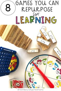 Read this blog post on 8 games that you can repurpose for teaching maths. Use these favourite games for learning in the classroom or at home.