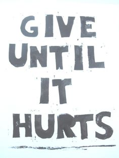 Give Until It Hurts, Lino Print
