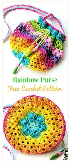 crochet handbags Crochet Drawstring Bags Free Patterns & DIY Tutorials: for kids and adults, drawstring shoulder bags, gift bags and pouches, drinks bags, sacks and Crochet Purse Patterns, Knitting Patterns, Sewing Patterns, Crochet Diy, Crochet Gifts, Tutorial Crochet, Crochet Tutorials, Crochet Drawstring Bag, Drawstring Bags