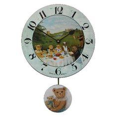 Teddy Bear Picnic Pendulum Wall Clock