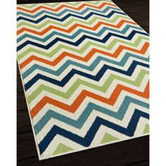 Shop for Indoor/ Outdoor Multi Chevron Rug (6'7 x 9'6). Get free shipping at…