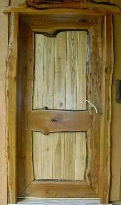 DIY barn door can be your best option when considering cheap materials for setting up a sliding barn door. DIY barn door requires a DIY barn door hardware and a Rustic Doors, Wooden Doors, Pine Doors, Slab Doors, Wooden Shutters, Cool Doors, Door Trims, Log Furniture, Windows And Doors