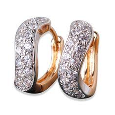 Fashion CZ Brand Jewelry for Women Winding 18K Gold Platinum/White/Rose Filled Earrings Crystal Zircon Huggie Hoop Earing E131♦️ B E S T Online Marketplace - SaleVenue ♦️👉🏿 http://www.salevenue.co.uk/products/fashion-cz-brand-jewelry-for-women-winding-18k-gold-platinumwhiterose-filled-earrings-crystal-zircon-huggie-hoop-earing-e131/ US $3.39