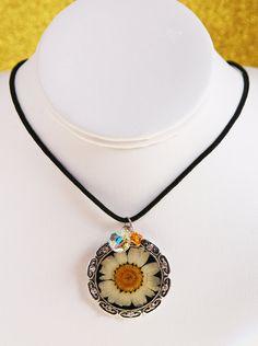 Swarovski Crystal Lazy Daisy Corded Necklace by SparkleBunnyFrouFrou on Etsy
