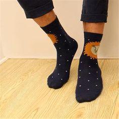 In Design; 2019 Latest Design 1pair Fashion Men Cotton Breathable Funny Ankle Socks Causal Short Socks Print Man Chaussette Homme Mens Dress Novelty Art Sock Novel