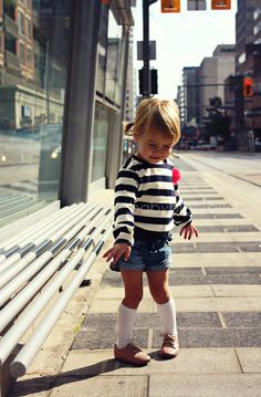 Knee Highs and shorts!  too cute! from baby blackbird