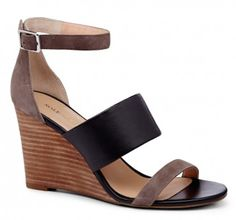 pretty #black colorblock wedges http://rstyle.me/n/fyx6zr9te