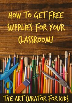 How to Get Free Classroom Art Supplies Find out how teachers and schools can get free classroom art supplies, and help your students discover the magic of making art! Free School Supplies, Teacher Supplies, Classroom Supplies, Art Classroom, Classroom Organization, Classroom Ideas, Supplies For Schools, Classroom Management, Class Management