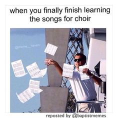 this is the band after we finish learning a hard tune Choir Memes, Choir Songs, Music Jokes, Music Humor, Christian Jokes, Band Jokes, Music Theater, Good Music, Theater