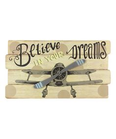 Love this 'Believe in Your Dreams' Wood Wall Sign on #zulily! #zulilyfinds