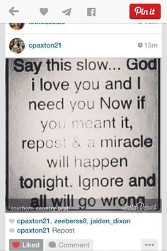 God comes first