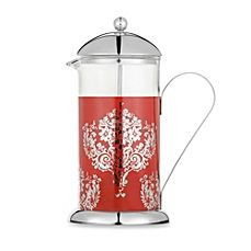 image of La Cafetiere Red Damask 8-Cup French Press