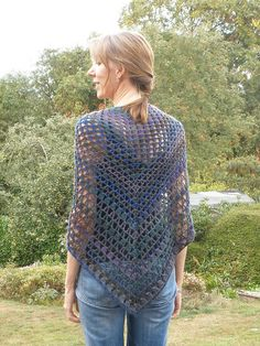 Iris Crocheted Shawl by ChickenBetty