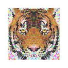 #Posters #Metal #Art - #Tiger Triangle Mandala Metal Print