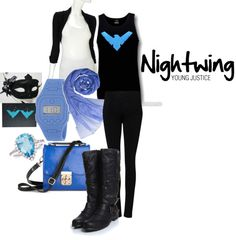 nightwing outfit #dc comics #batman #young justice