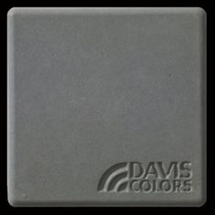 "This is a photo of an actual 3"" x 3"" concrete tile sample integrally colored with Davis Colors' Pewter (pigment # 860). This video reproduction is just for ideas. Please finalize your color selection from our printed color card, hard tile samples or job site test."