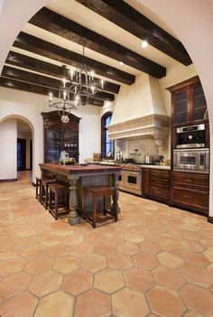 Superb Spanish Inspired Dream Home On Lake Conroe. Cool KitchensCountry KitchensSpanish  Style ...