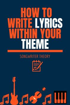 How To Write Lyrics Within Your Theme - Songwriter Theory Learn Songwriting Learn Singing, Singing Lessons, Singing Tips, Music Lessons, Vocal Lessons, Guitar Lessons, Art Lessons, Writing Lyrics, Music Writing