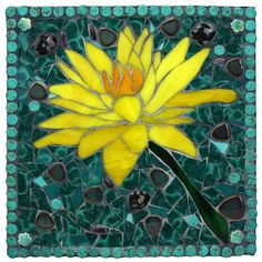 """""""Yellow Water Lily""""  Repined By    http://www.mosaicmosaic.com/"""