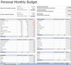 personal budget planner free