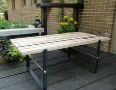 Reclaimed Modern Coffee Table by duncndonut on Etsy, $375.00