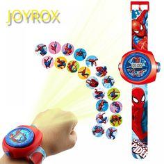 JOYROX Princess Spiderman Kids Watches Projection Cartoon Pattern Digital Child watch For Boys Girls LED Display Clock Relogio - Ziloqa