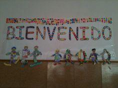 periódico mural del mes de Agosto Mural de Bienvenida (2)