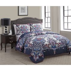 Create a rich and inviting ambiance in your bedroom with the Istanbul 3pc Duvet Cover Set. This set has a rich colored paisley print with matching shams to give your bedroom décor the transformation it needs this season.