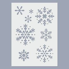 Snowflake Stencil by StencilDirect on Etsy, £2.95