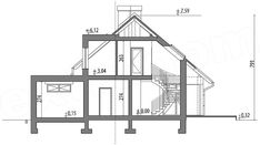 Rzut projektu Arystoteles House Roof, Facade House, My House, My Home Design, Modern House Design, Dormer Bungalow, Casas Containers, A Frame Cabin, Attic Rooms