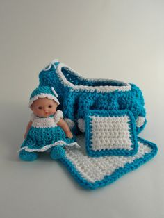 Cradle Purse With Berenguer Doll, Outfit, Blanket, And Pillow