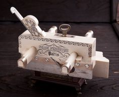 MOSELEY Silver and Ivory Presentation Plow Plane by PAUL HAMLER Full Size at 8 inches Long