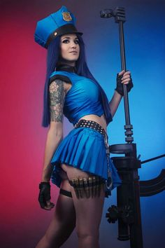 Cosplayer: Justine Kosuplay. Country: South Africa. Cosplay: Officer Caitlyn from LoL. Photos by: Giantshev Photography. https://www.facebook.com/justinekosuplay/