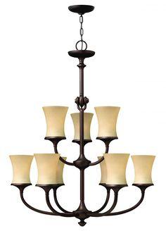 9-Light Victorian Bronze Up Chandelier $840