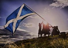 Gorgeous re-do of the Iwo Jima flag picture with the St. Andrews and men in kilts :)